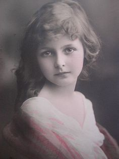 Lovely Victorian child.