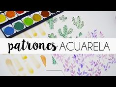 Patrones con acuarela - Sole - YouTube Holidays And Events, Art Tutorials, Mixed Media Art, Book Art, Watercolor, Lettering, Drawings, Creative, Youtube