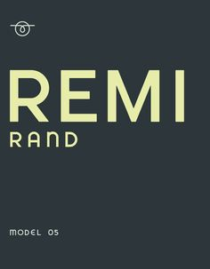 Remi-Rand typeface designed by Mike McQuade