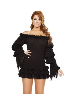 Ruffled Pirate Dress with Sleeves
