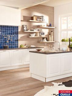 Tretet Ein In Diese Gemütliche Landhausküche! Die Classica 2310 Weiß Lädt  Mit Ihren Schicken Kassettenfronten