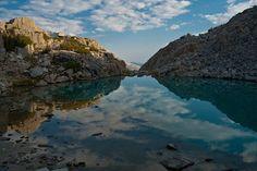 Reflection - Lake side Rock