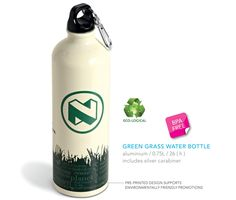 Branded Green Grass Water Bottle #brandability #promotionalproducts #waterbottles