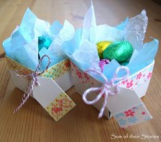 Sum of their Stories: Washi Tape Berry Boxes