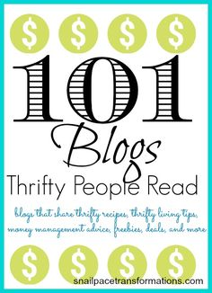 Wanting to reduce your budget, here are 101 thrifty living blogs that will help you. Coupons, freebies, inexpensive recipes, , these thrifty blogs have it.