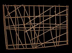 Polynesian map: the sticks indicate currents, the shells are islands or groups of islands. This is pre-written language.