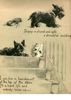 Westie and Scottie Dog Dopey and Gallant We Are Banished Childrens Book Terrier Westhighland Scottish Terriers
