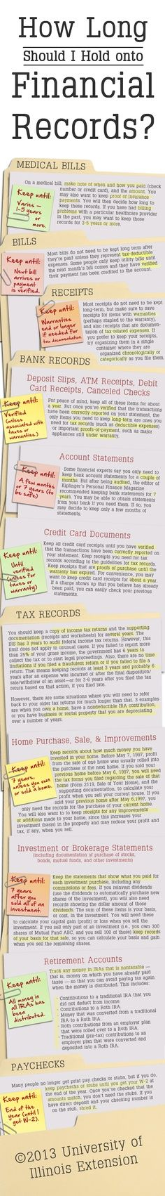 on a decluttering mission, it may be hard to know what financial papers you can safely throw away. Read this guide for help.When on a decluttering mission, it may be hard to know what financial papers you can safely throw away. Read this guide for help. Paper Organization, Office Organization, Financial Organization, Organizing Paperwork, Organising, Organizing Paper Clutter, Organized Office, Diy Organizer, Trick 17