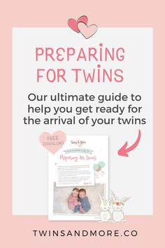 The Ultimate Guide to Preparing for Twins - Twins & More  Pregnant with Twins? Finding out you are having twins can be a shock!   Will you have to buy TWO of everything?    Read our in-depth guide to help you as you start preparing for your twins arrival.   Plus grab our FREE Preparing for Twins Guide that you can use to help you start planning for your twins.   #twinsandmore #preparingfortwins #pregnantwithtwins How To Have Twins, How To Get, How To Plan, Twin Mom, Baby Things, Free