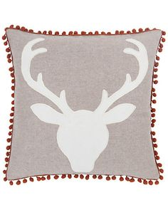 "Some of you have to get in on this: Blissliving Home ""Oh Deer"" Decorative Pillow"