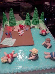 birthday cake that takes the cake.  lake cake