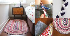 #DIY #Reciclar #Ropa ¿Remeras viejas? ¡Conviértelas en una colorida alfombra!