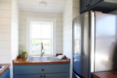 """Cypress"" Tiny House by Mustard Seed Tiny Homes Tiny House Movement // Tiny Living // Tiny House Appliances // Tiny Home Kitchen // Two Bedroom Tiny House, Tiny House Big Living, Small Space Living, Home And Living, Living Room, Tiny Home Cost, Tiny House Movement, Tiny Spaces, Small Furniture"