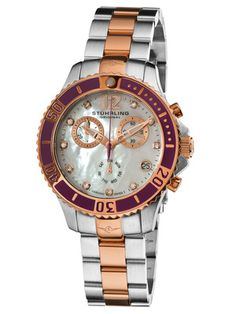 Stuhrling Original Women's Regatta Rose Gold & Purple Watch