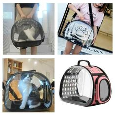 Pet Carry Handbag Purse Backpack Dog Cat Cage Travel Tote Foldable Shoulder Bag - Ideas of Cat Backpack Cat Backpack Carrier, Backpack Purse, Shoulder Handbags, Shoulder Bag, Puppy Carrier, Pet Bag, Cat Cages, Backpack Reviews, Travel Tote