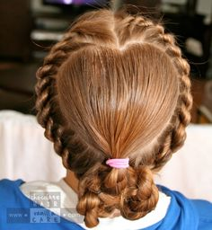 Share the Hair: Valentine's Hair 2012 | Chocolate Hair / Vanilla Care    Such amazing hairs styles for kids and grownups