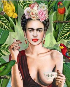 'Frida Kahlo Jungle Painting ' Poster by JeromeTedder Fridah Kahlo, Frida Kahlo Portraits, Frida And Diego, Frida Art, Poster S, Mexican Art, Art Inspo, Art Photography, Illustration Art