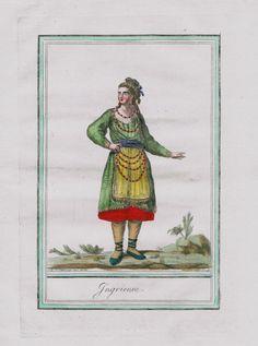 1780 Ingria Russia Ingermanland Estonia Finland Costume Engraving