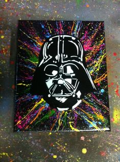 Darth Vader Canvas Darth Vader Spray Art Stencil by wilneverlego