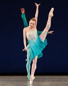 "Sara Mearns in Jerome Robbins and Twyla Tharp's ""Brahms/Handel"" PHOTO CREDIT: Paul Kolnik"