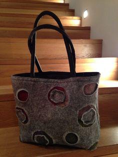 tasche vera Tote Bag, Bags, Fashion, Felting, Homemade, Dime Bags, Handbags, Moda, La Mode
