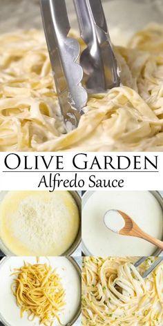 Cat Recipes, Sauce Recipes, Cooking Recipes, Alfredo Sauce Recipe Easy, Vegan Alfredo Sauce, Olive Garden Alfredo Sauce, Desserts Keto, Homemade Alfredo, Twisted Recipes
