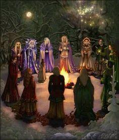 Wicca Wiccan  Pagan Cercle Esbat.