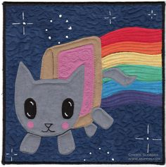 Nyan Cat Quilt | 20 Awesome Internet Meme Crafts