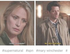 The Winchesters bonding over computers  #destiel #marywinchester