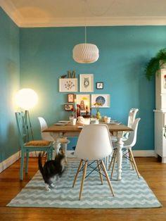 turquoise and teak
