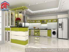 Thiết kế tủ bếp hiện đại không gian bếp nhẹ nhàng, tươi mới TBX133
