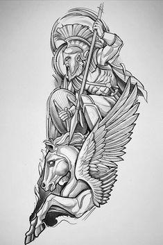 Forearm Sleeve Tattoos, Best Sleeve Tattoos, Tattoo Sleeve Designs, Tattoo Designs Men, Leg Tattoos, Body Art Tattoos, Tattoo Thigh, Half Sleeve Tattoos Drawings, Zeus Tattoo