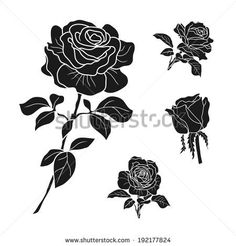 rose symbols, decorative vector illustration