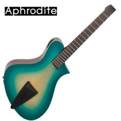 Corona Aphrodite Headless Acoustic Guitar APN-350HSEQ Green Unique Design Travel #Corona
