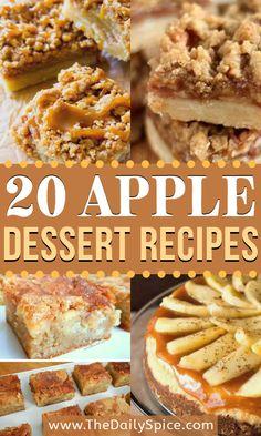 Mini Desserts, Apple Dessert Recipes, Fall Desserts, Fruit Recipes, Apple Recipes, Just Desserts, Fall Recipes, Sweet Recipes, Baking Recipes