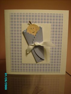 Baby Boy Card - made by me Scrapbook.com