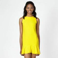 I've just found Bright yellow crepe peplum hem dress on #SnapFashion. What do you think?