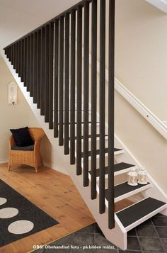 24 Best Ideas For Basement Stairs Diy Railings Stairways Stair Railing Design, Stair Handrail, Staircase Railings, Railing Ideas, Bannister, Loft Stairs, Basement Stairs, House Stairs, Patio Stairs