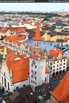 A View On Cities munich | Royalty Free Image of The Aerial View Of Munich City Center