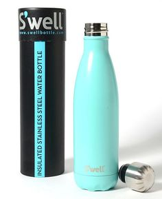 Swell bottle in Tiffany Blue! Swell Water Bottle, Cute Water Bottles, Best Water Bottle, Teal Blue, Aqua, Cute Cups, Bottle Design, Tiffany Blue, Coffee Cups