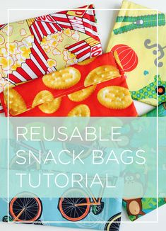 I want to sew these for my kids to use!!!! Great video tutorial for reusable snack bags pinnable