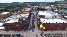 Incredible view of the 2015 Sturgis Motorcycle Rally! Watch as a drone flies over the 75th anniversary celebration: http://blog.bikerornot.com/drone-flies-over-2015-sturgis-motorcycle-rally-watch/?ref=pinterest-082015-0832