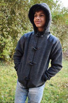 L'ado de P&P a eu un coup de coeur pour cette #veste à #capuche doublée bi-matière à 25€ #babou