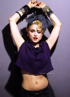 The Photoshoot of the Week: Madonna by Gary Heery, First Album, 1983 - Madonna Art Vision Madonna Rare, Madonna 80s, Madonna Music, Madona, La Madone, Madonna Photos, Purple Outfits, Vogue, Idole
