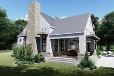 This farmhouse design floor plan is 2828 sq ft and has 4 bedrooms and has bathrooms. Modern Farmhouse Plans, Farmhouse Design, Country Farmhouse, Farmhouse Ideas, Open Family Room, Southern House Plans, Country Style Homes, Southern Style, Building A House