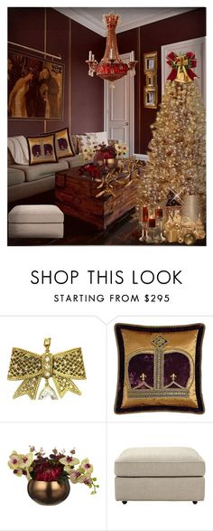 """""""Christmas Tree !"""" by eco-art ❤ liked on Polyvore featuring interior, interiors, interior design, home, home decor, interior decorating, Christian Dior, Dian Austin Couture Home, Baldwin and Chandelier"""