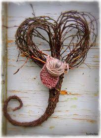 Tee se itse -ideoita puutarhaan ~ DIY garden ideas: marraskuuta 2013 Primitive Wreath, Garden Crafts, Grapevine Wreath, Grape Vines, Crochet Earrings, Wreaths, Home Decor, Design, Decoration Home