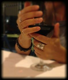 Hands, rings , wine, passion