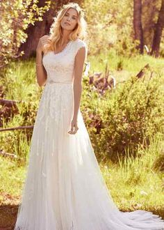 Wedding Dress Bianca by Maggie Sottero - Search our photo gallery for pictures of wedding dresses by Maggie Sottero. Find the perfect dress with recent Maggie Sottero photos. Outdoor Wedding Dress, How To Dress For A Wedding, Rustic Wedding Dresses, 2015 Wedding Dresses, Boho Wedding Dress, Bridal Dresses, Gown Wedding, Country Style Wedding Dresses, Wedding Ideas