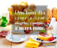 Comece o dia com alegria e muita energia! #Feinkost #BomDia #Fome #Granola